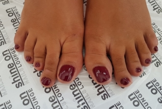 Feet Manicure and Red coloring