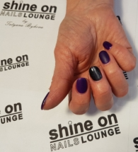 Shellac Purple Purple and Black art