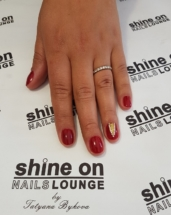 Red and Nail Art