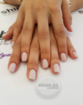 Acrylic over natural & UV Hybrid Colouring